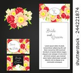 wedding invitation cards with... | Shutterstock .eps vector #244221874