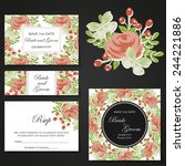 wedding invitation cards with... | Shutterstock .eps vector #244221886