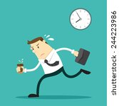 the businessman going to work   ... | Shutterstock .eps vector #244223986
