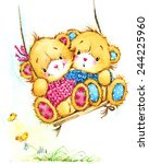 Teddy Bear And And Swings....