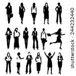 collection business people... | Shutterstock .eps vector #244232440