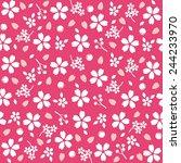cherry blossom pattern | Shutterstock .eps vector #244233970