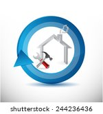 house reconstruction cycle... | Shutterstock . vector #244236436
