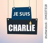 je suis charlie   paper drop... | Shutterstock .eps vector #244237318