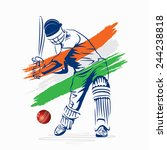creative abstract cricket... | Shutterstock .eps vector #244238818