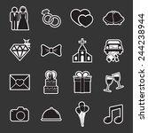 wedding icon | Shutterstock .eps vector #244238944