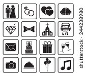 wedding icon | Shutterstock .eps vector #244238980