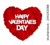 happy valentines day card.... | Shutterstock .eps vector #244242088