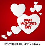 happy valentines day card.... | Shutterstock .eps vector #244242118