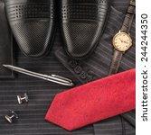 men accessories    Shutterstock . vector #244244350