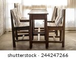white room with wooden table... | Shutterstock . vector #244247266