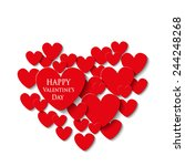 valentine's day card | Shutterstock . vector #244248268
