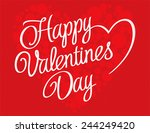 valentines day lettering... | Shutterstock .eps vector #244249420
