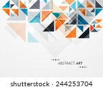 stylish abstract art design... | Shutterstock .eps vector #244253704