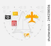 set of summer tourism icons   Shutterstock . vector #244258036