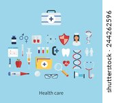 flat health care and medical... | Shutterstock .eps vector #244262596