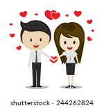cute couple in love holding...