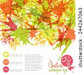 vector background with paint... | Shutterstock .eps vector #244267063