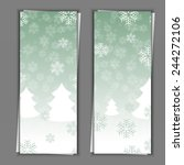 set of banner templates with... | Shutterstock . vector #244272106