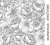 gentle spring monochrome... | Shutterstock .eps vector #244272583