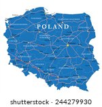 poland map | Shutterstock .eps vector #244279930