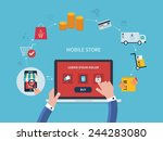 flat vector design with e... | Shutterstock .eps vector #244283080