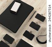 mockup business template. high... | Shutterstock . vector #244287514