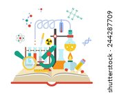 set open book about science of... | Shutterstock .eps vector #244287709
