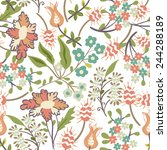 seamless floral pattern  | Shutterstock .eps vector #244288189