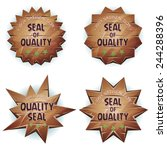 cartoon wooden seal of quality  ...