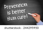 prevention is better than cure  ... | Shutterstock . vector #244295950