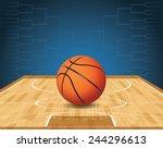 an illustration of a basketball ...   Shutterstock .eps vector #244296613