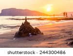 Ruined Sandcastle On The Beach...