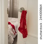 invitation to the bedroom. red... | Shutterstock . vector #244300864