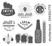 vintage craft beer brewery... | Shutterstock .eps vector #244301779