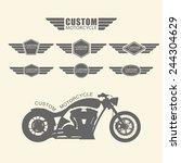set of vintage custom... | Shutterstock .eps vector #244304629