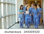 medical students walking... | Shutterstock . vector #244305520