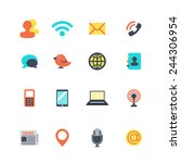 communication icons | Shutterstock .eps vector #244306954