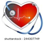blood pressure monitoring  ... | Shutterstock .eps vector #244307749