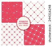 vector set of four seamless... | Shutterstock .eps vector #244316248