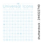 set of icons for web and user... | Shutterstock .eps vector #244322740
