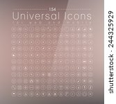 set of 289 quality icon   spa... | Shutterstock .eps vector #244325929