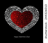 valentines card with heart. | Shutterstock .eps vector #244326013