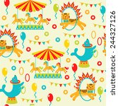 seamless pattern with cute... | Shutterstock .eps vector #244327126