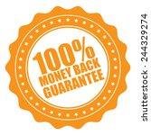 orange 100  money back... | Shutterstock . vector #244329274