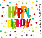 happy birthday greeting card ...   Shutterstock .eps vector #244339099