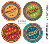 special promotion sign on... | Shutterstock .eps vector #244340068