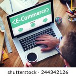 digital online marketing e... | Shutterstock . vector #244342126