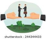 handshake of two small... | Shutterstock .eps vector #244344433