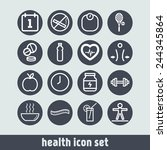 set of simple icons for health... | Shutterstock .eps vector #244345864